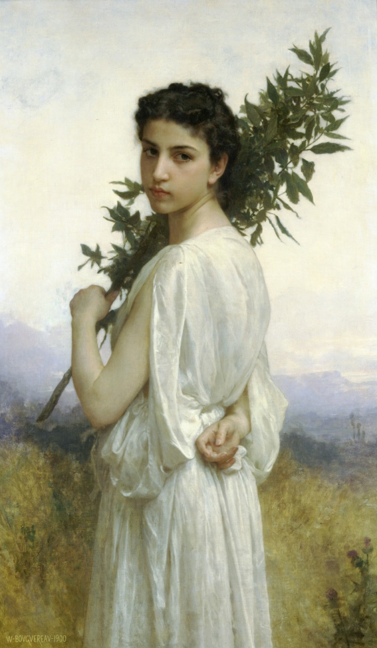 painting by William-Adolphe Bouguereau: Branche de Laurier (1900)