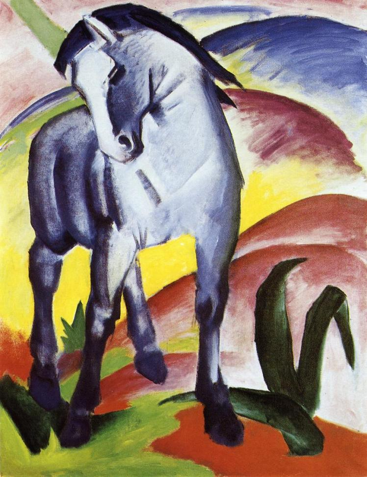 painting by Franz Marc: Blue Horse I (1911)