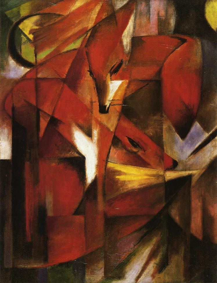 painting by Franz Marc: The Fox (1913)