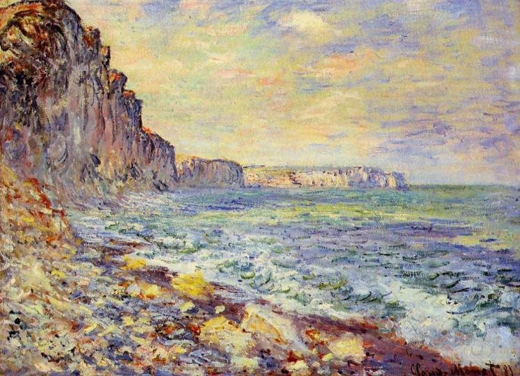 painting by Claude Monet: Morning by the Sea (1881)