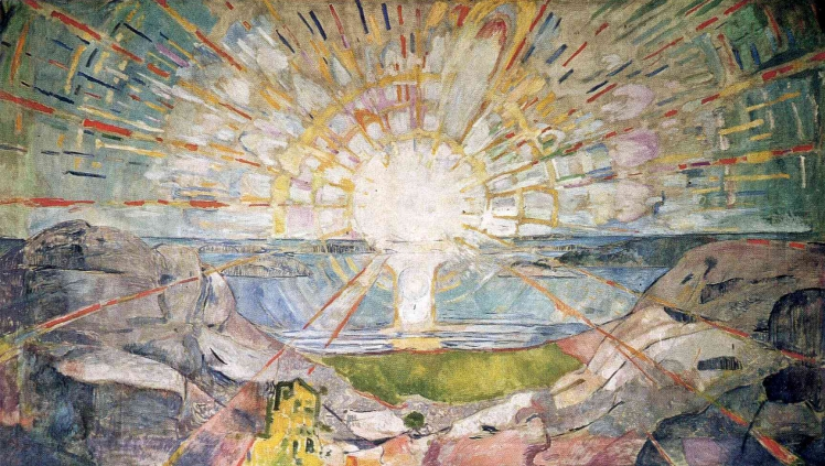 painting by Edvard Munch: The Sun (1911 - 1916)